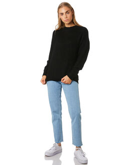 BLACK WOMENS CLOTHING SILENT THEORY KNITS + CARDIGANS - 6034033BLK