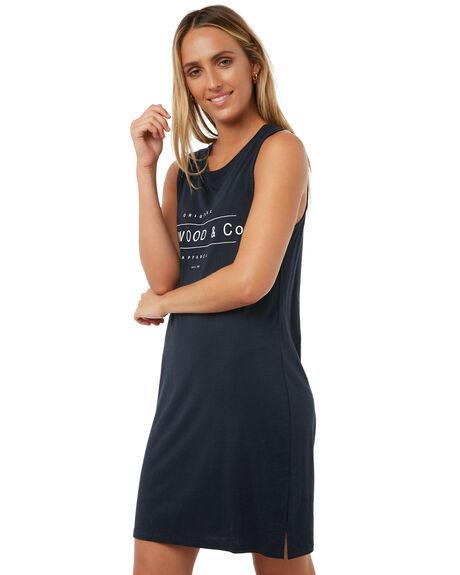 NAVY STRIPE WOMENS CLOTHING ELWOOD DRESSES - W73718NAVY
