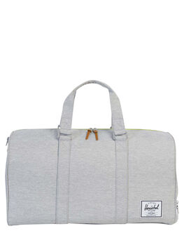 LIGHT GREY XHATCH UNISEX ADULTS HERSCHEL SUPPLY CO BAGS - 10026-01460-OSLGRY