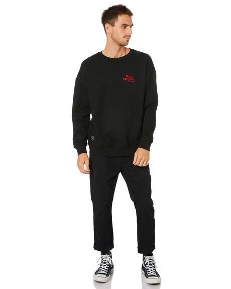BLACK MENS CLOTHING RPM JUMPERS - 20WM10A2BLK