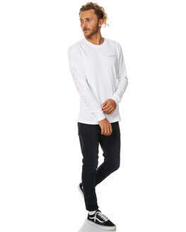 WHITE MENS CLOTHING AFENDS TEES - 02-02-081WHT