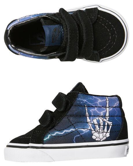 LIGHTNING BLACK KIDS BOYS VANS FOOTWEAR - VNA348JQ8AMULTI