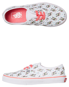WHITE PINK KIDS GIRLS VANS SNEAKERS - VNA38H3VI9WPNK