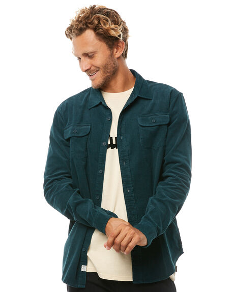 TEAL MENS CLOTHING THE CRITICAL SLIDE SOCIETY SHIRTS - LS1808TEAL