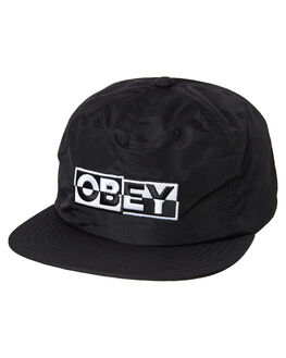 BLAK MENS ACCESSORIES OBEY HEADWEAR - 100570085BLK