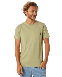WASHED OLIVE MENS CLOTHING RIP CURL TEES - CTEMW29591