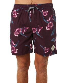 BURGUNDY MENS CLOTHING IMPERIAL MOTION BOARDSHORTS - 201901007024BUR