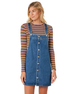 BRIGHT BABE WOMENS CLOTHING ZIGGY PLAYSUITS + OVERALLS - ZW-1909BLU