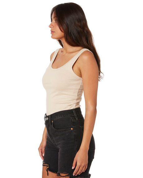 NUDE WOMENS CLOTHING THRILLS SINGLETS - WTH20-151ANDE