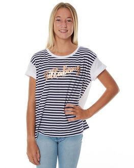 WHITE KIDS GIRLS BILLABONG TEES - 5575002WHT