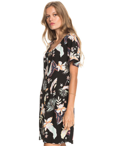 ANTHRACITE LARGE PRA WOMENS CLOTHING ROXY DRESSES - ERJWD03556-KVJ8