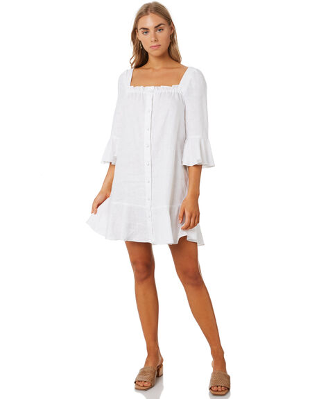 WHITE WOMENS CLOTHING MLM LABEL DRESSES - MLM627AWHT