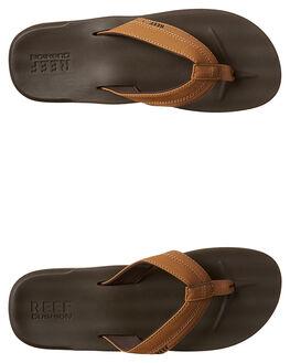 BROWN MENS FOOTWEAR REEF THONGS - A2YFXBRO