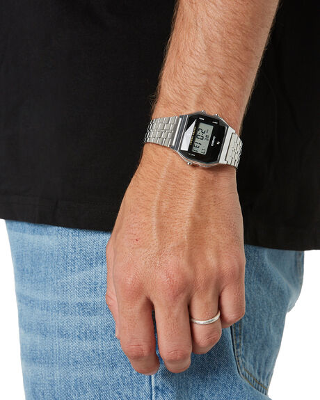 SILVER MENS ACCESSORIES CASIO WATCHES - A159WAD-1DSIL