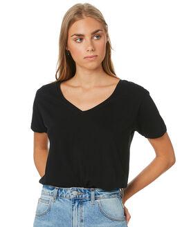 BLACK WOMENS CLOTHING SILENT THEORY TEES - 6085028BLACK