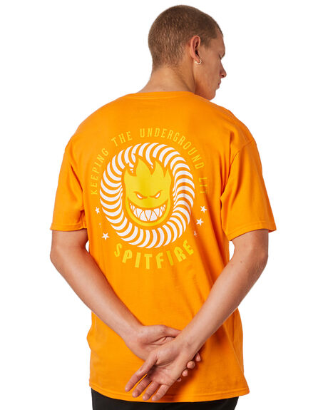 ORANGE MENS CLOTHING SPITFIRE TEES - 51010438JORNG