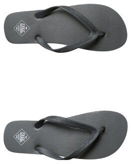BLACK MENS FOOTWEAR FREEWATERS THONGS - MO024BLK