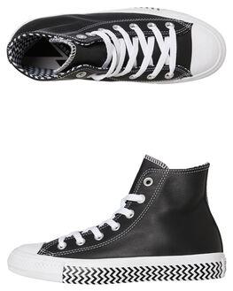 BLACK WHITE WOMENS FOOTWEAR CONVERSE SNEAKERS - 564943CBLKW