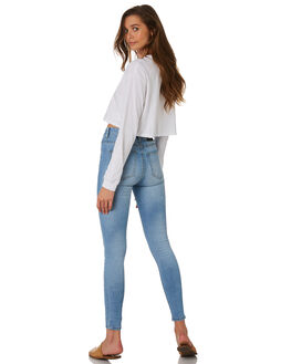 DISTORTED BLUE WOMENS CLOTHING DR DENIM JEANS - 1830102-106