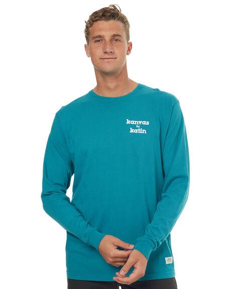 TEAL MENS CLOTHING KATIN TEES - KNSSWORLS17TEA