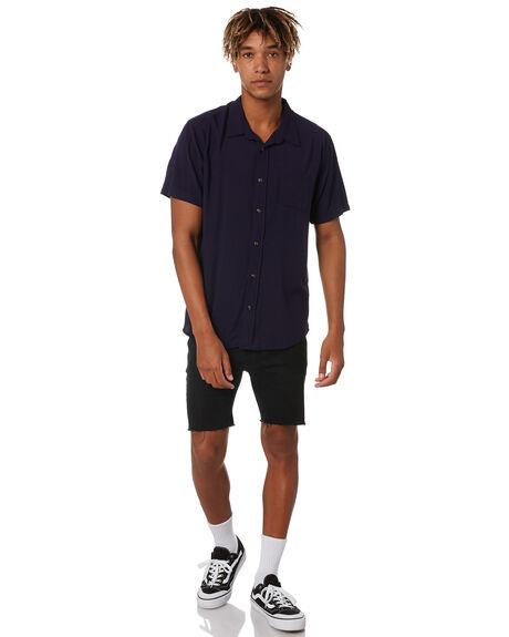 NAVY BLUE MENS CLOTHING RUSTY SHIRTS - WSM0977NVB
