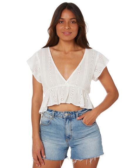 WHITE WOMENS CLOTHING RUSTY FASHION TOPS - WSL0684WHT