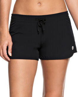 BLACK WOMENS CLOTHING ROXY SHORTS - ERJNS03172KVJ0