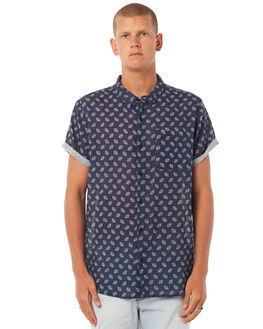 CAVE BLUE MENS CLOTHING ROLLAS SHIRTS - 15044817