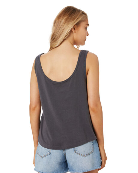 WASHED BLACK WOMENS CLOTHING RIP CURL SINGLETS - GTEKY98264