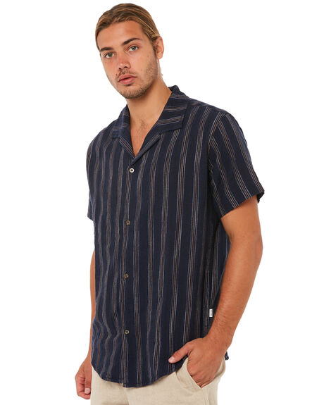 NAVY MENS CLOTHING RHYTHM SHIRTS - JAN18M-WT06NAVY