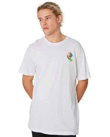 WHITE MENS CLOTHING SANTA CRUZ TEES - SC-MTB9211WHT
