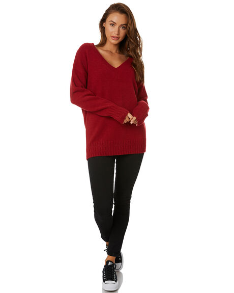 RIO RED WOMENS CLOTHING RUSTY KNITS + CARDIGANS - CKL0334RRED