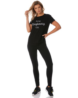 BLACK WOMENS CLOTHING RPM TEES - 8WWT01BBLK