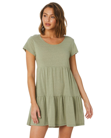 TEA GREEN WOMENS CLOTHING SWELL DRESSES - S8222245TGRN