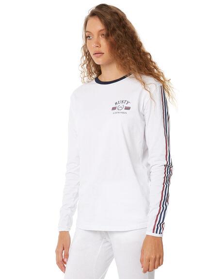 WHITE WOMENS CLOTHING RUSTY TEES - TTL0940WHT