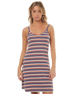 MULTI STRIPE WOMENS CLOTHING ALL ABOUT EVE DRESSES - 6481679MUL