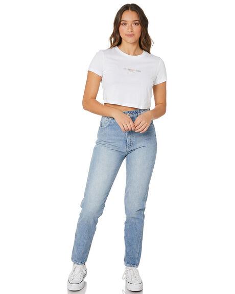 BRIGHT WHITE WOMENS CLOTHING CALVIN KLEIN TEES - J20J217203YAF