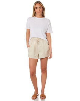 WHITE WOMENS CLOTHING NUDE LUCY TEES - NU22801WHI
