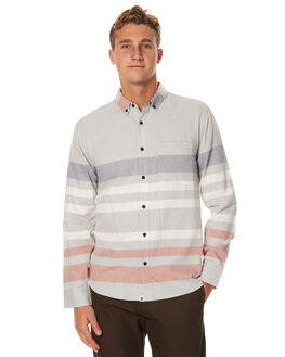HEATHER GREY MENS CLOTHING OURCASTE SHIRTS - W1019PHGSTP