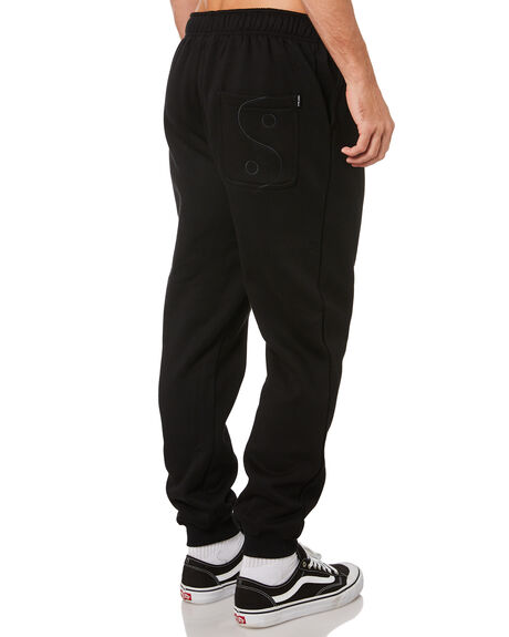 BLACK MENS CLOTHING TOWN AND COUNTRY PANTS - TFP911ABLK
