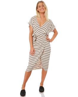 BLUSH STRIPE WOMENS CLOTHING LILYA DRESSES - RD12-PRSS18-BSHST