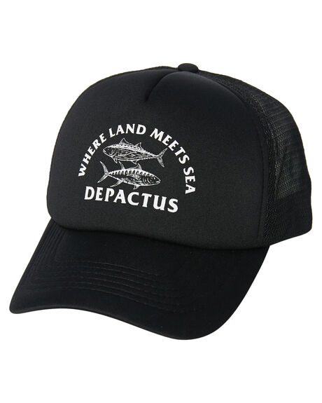 BLACK MENS ACCESSORIES DEPACTUS HEADWEAR - D51821612BLACK