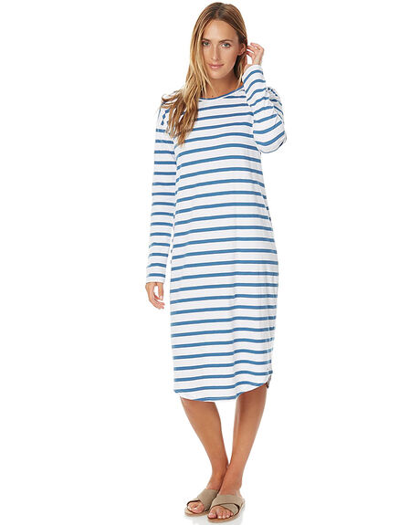 NAVY WHITE WOMENS CLOTHING O'NEILL DRESSES - 3721602NVY