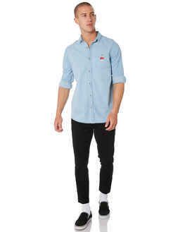 WASHED DENIM MENS CLOTHING ROLLAS SHIRTS - 15692363