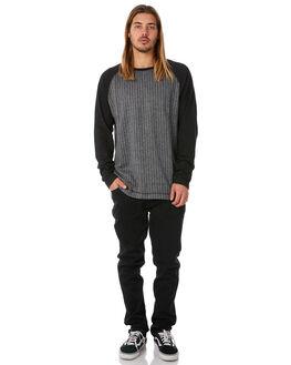 BLACK MENS CLOTHING EZEKIEL JUMPERS - EF174018BLK