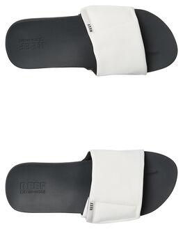 GREY WHITE MENS FOOTWEAR REEF SLIDES - A3OL5GRW