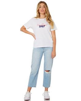 WHITE WOMENS CLOTHING HUFFER TEES - WTE84S4128WHI