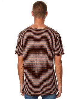 NAVY RED MENS CLOTHING NUDIE JEANS CO TEES - 131526NVYR