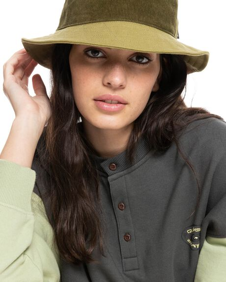 SPINACH GREEN WOMENS ACCESSORIES QUIKSILVER HEADWEAR - EQWHA03027-GMR0
