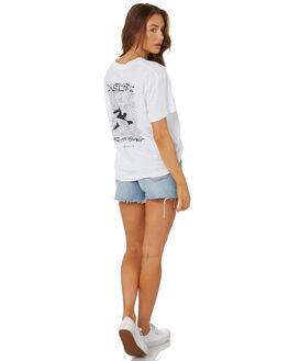 WHITE WOMENS CLOTHING RUSTY TEES - TTL1088WHT